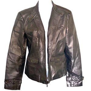 Dress Barn | Faux Leather Bronze Metallic jacket
